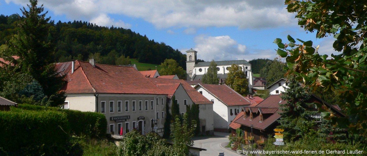 sehenswuerdigekeiten-gotteszell-ferienort-bayerischer-wald-kirche-ansicht