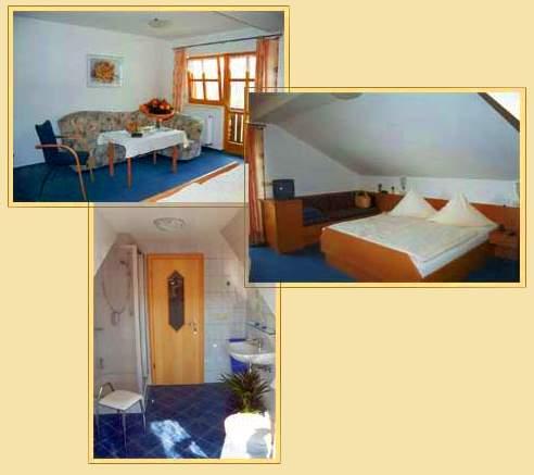 Bilder der Zimmer mit Frühstück und Halbpension auf dem Bauernhof