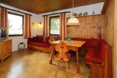 Essbereich der Ferienwohnung Bungalow in Bayern