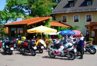 Gaststätte am Radweg Falkenstein - Regensburg