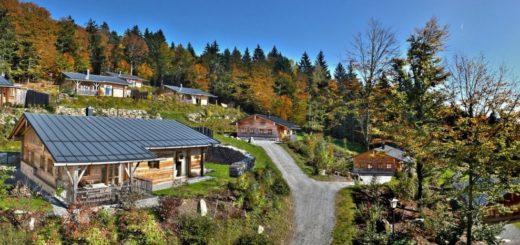 hüttenhof-bergdorf-bayerischer-wald-luxus-chalets-almdorf-ansicht