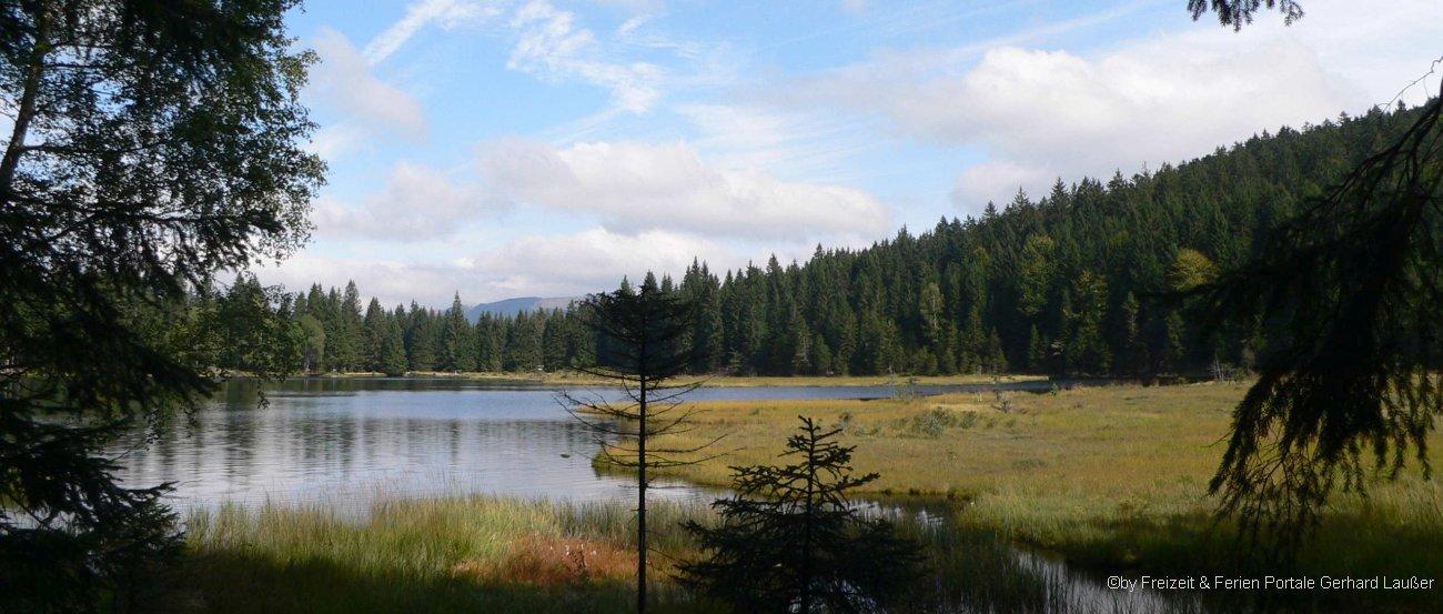 Ausflugsziel kleiner Arbersee - Abenteuer Baumzelt Bayerischer Wald