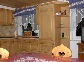 Küche in der Ferienwohnung für Familien und Kinder
