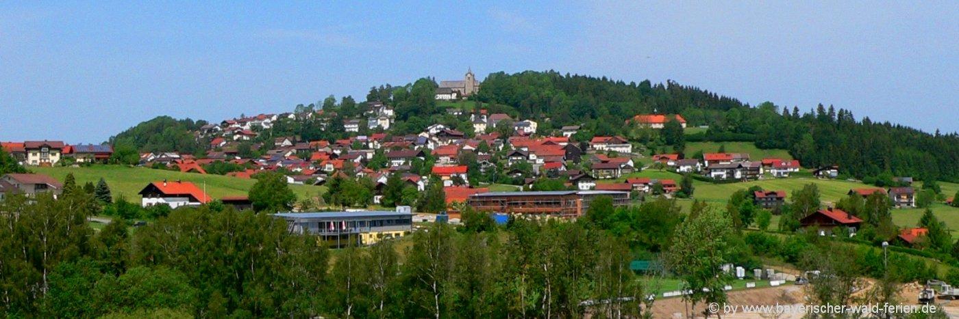 Ferienhäuser und Ferienwohnungen in Kirchberg im Wald - Ortsansicht