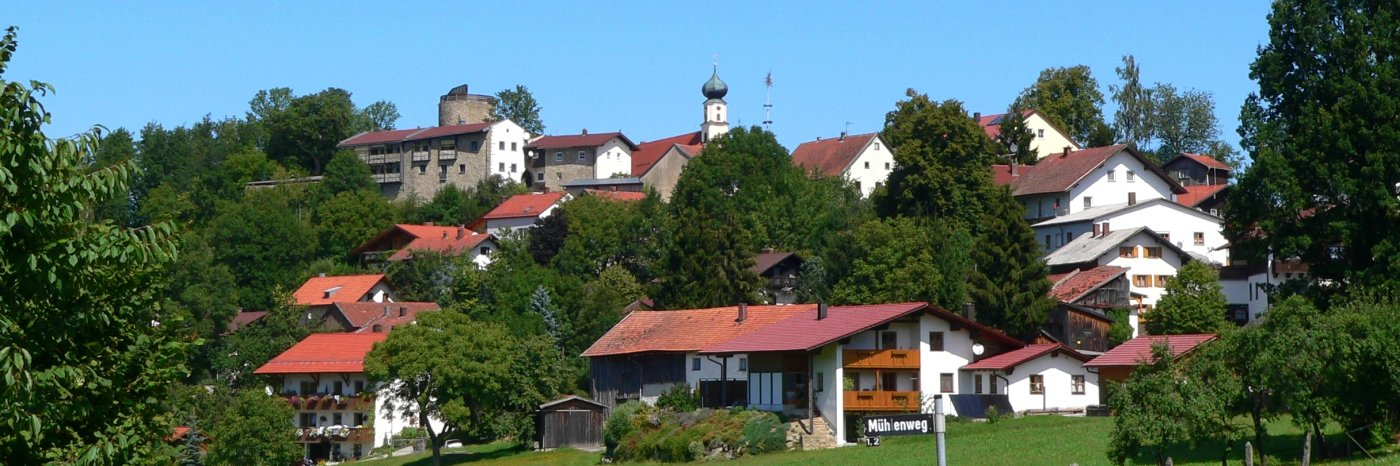 Burgruine Kollnburg Aussichtsturm bei Sankt Englmar Bilder & Fotos