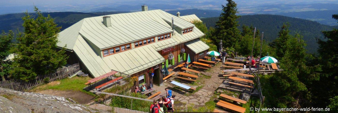 Osser bei Lam Osserwiese und Aussichtsberg im Bayerischen Wald
