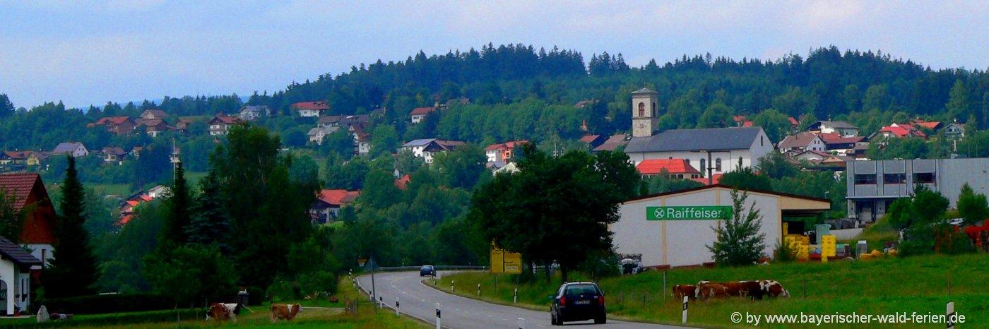 Ausflugsziele und Unterkünfte in Nneureichenau im Dreiländereck Bayerischer Wald