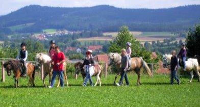 Bauernhof Nissl Pferdehof in Deutschland Ponyreiten für Kinder