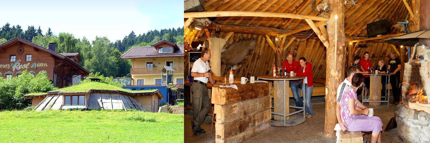 Adventure Camp in Bayern Erdhütte Bayerischer Wald Originelle Abenteuer Unterkunft
