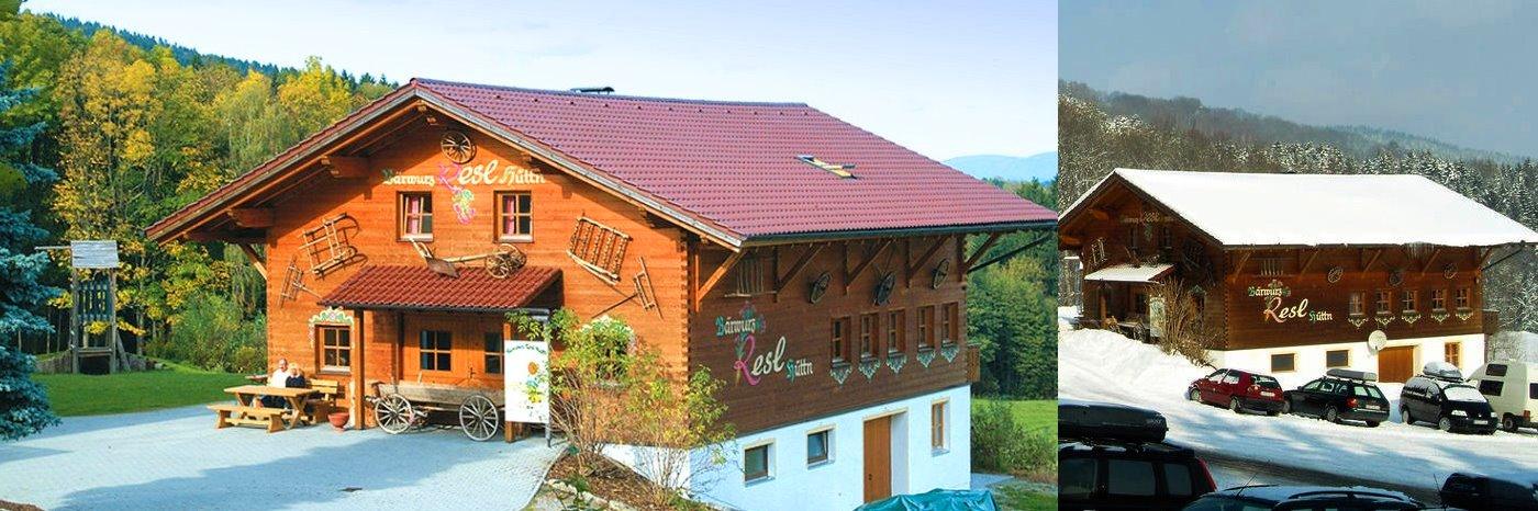 Bayerischer Wald Hütte bei Sankt Englmar Berghütte am Pröller - Urige Bärwurz Resl Hütte
