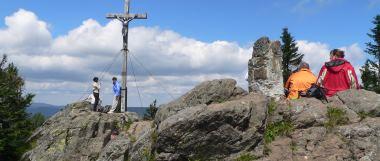 kraxeln und klettern am Rachel im Nationalpark Bayerischer Wald