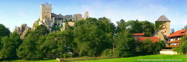 Sehenswürdigkeiten in Regen Ausflugsziele Burgruine Weissenstein