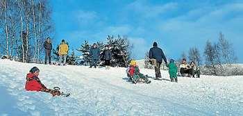 Wintersportgebiet Pröller skifahren bei St. Englmar und Kollnburg im Bayerischen Wald