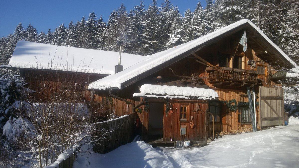 Bayerischer Wald Weihnachten Berghütte in Bayern