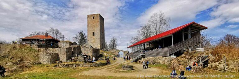 Sehenswürdigkeiten in Rötz Ausflugsziele Bburgruine Schwarzwhirberg