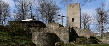 Ruine der Burganlage Schwarzenburg bei Rötz