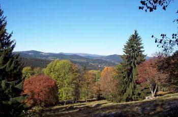 Landschaft Nationalpark Sumava Bauernhof Pension