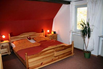 Schlafzimmer vom Gruppenreisen Ferienhaus im Bayerischen Wald