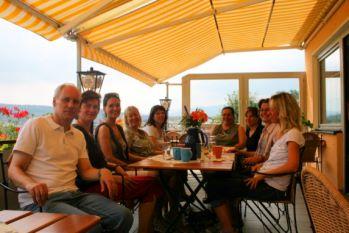 Terrasse vom Ferienhaus Gruppenreisen Deutschland