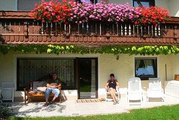 Ferienwohnung in Ostbayern Terrasse