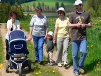 Wandern im Sommer Familienurlaub Deutschland