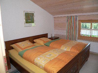 Schlafzimmer in der Ferienwohnung Neureichenau