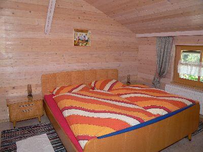 Schlafzimmer im Dreisessel Ferienhaus