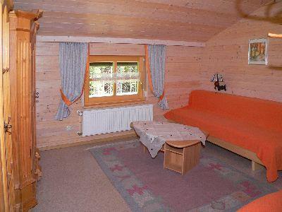 Wohnzimmer in der Ferienwohnung Dreisessel