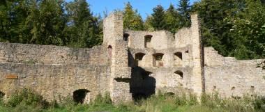 Bayerischer Wald Burgruine Kürnburg in Stamsried Ruine in der Oberpfalz
