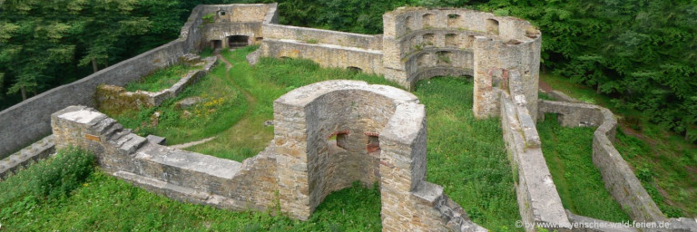 Ausflugsziele Stamsried Sehenswürdigkeit Burgruine Kürnburg Oberpfalz