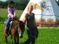 Bayerischer Wald Ponyreiten am Kinderbauernhof Bayern