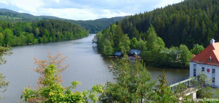 Stausee bei Viechtach Höllensteinsee Bayerischer Wald Ausflugsziel