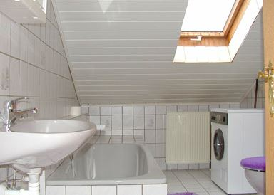 Badezimmer der Bauernhof Wohnung in Deutschland im Bayerwald