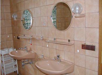 Badezimmer der Terrassenwohnung in Deutschland
