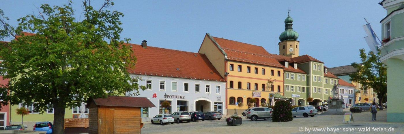 waldmünchen-unterkunft-oberpfalz-sehenswürdigkeiten-stadtplatz